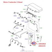 Arruela dos Bicos Injetores de Combustivel - Land Rover Freelander 2 2.2 Diesel 2011-2014 / Evoque 2.2 Diesel 2012 - LR032818 - Marca Bosch