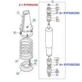 Arruela Superior/Inferior do Amortecedor Dianteiro Land Rover Defender 90/110/130 - BR1440 RYF500240 - Marca Bearmach (Unitario)