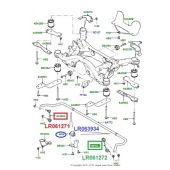 Bieleta da Barra Estabilizadora Traseira (Lado Esquerdo) - Land Rover Discovery Sport 2015 > - LR061272 - Marca Eurospare