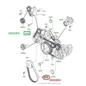 Correia Poly V Secundaria - Land Rover Range Rover 4.4 V8 Diesel 2010-2012 - LR022804 - Marca Optbelt