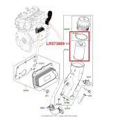 Filtro de Oleo do Motor - Land Rover Evoque 2.0 Gas AJ200 2012 > / Range Rover 2.0 Gas AJ200 2013 > / Range Rover Sport 2.0 Gas 2014 > - LR073669 - Marca Mahle