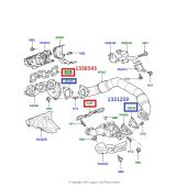 Junta do Coletor de Escape Land Rover Discovery 3 e 4 Diesel 2.7 3.0 TD6 / Range Rover Sport Diesel 2.7 e 3.0 TD6 - 1336543 - Marca Victor Reinz