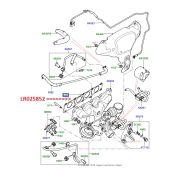 Junta do Coletor de Escape Motor 2.0 16V - Land Rover Evoque 2.0 16V Gas 2012 > / Freelander 2 2.0 16V 2007-2014 / Range Rover Sport 2.0 16V 2014 - LR025852 - Marca Bearmach