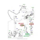 Junta do Tubo de Retorno Oleo do Turbo - Land Rover Discovery 4 3.0 V6 Diesel 2010-2014 / Range Rover Sport 3.0 V6 Diesel 2010-2013 - LR013235 - Marca Bearmach