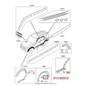 Kit 4 Presilhas do Fender do Paralamas - Land Rover Discovery 3 2005-2009 / Discovery 4 2010-2014 - DYC500010 - Marca Britpart