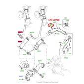 Plug Dreno do Conector de Agua (do Termostato para Mangueira Superior) - Land Rover Range Rover 5.0 V8 Gas 2010-2012 - LR011038 - Marca Britpart OEM