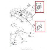 Presilha de Plastico (Preto) - Vários Acabamentos - Land Rover Defender 2007-2011 / Range Rover 2002-2012 - EYQ100130 - Marca Allmakes (Unitario)
