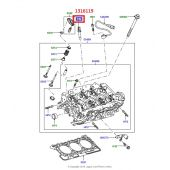 Sensor Pressao do Oleo do Motor Land Rover Discovery 3 Diesel 2.7 TD6 / Discovery 4 Diesel 2.7 e 3.0 / Range Rover Sport Diesel 2.7 e 3.0  TD6 - 1316119 - Marca Hella
