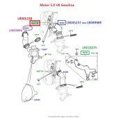 Tubo do Aquecedor do Corpo da Borboleta - Land Rover Discovery 4 5.0 V8 Gas 2010-2016 / Range Rover 5.0  2010-2012 / Range Rover Sport 5.0 2010-2013 / Range Rover 2013> - LR045238 - Marca Britpart