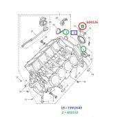 Selo Traseiro do Motor 4.0 V8 Gas (46mm) - Land Rover Discovery 1 1989-1998 / Discovery 2 1999-2004 - 602146 - Marca Allmakes (Unitario)