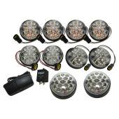 Kit de Lanternas de Led Transparentes (11 Lanternas + 1 Rele) - Land Rover Defender  - DA1291 -  Marca Wipac