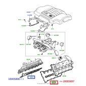 Junta do Coletor de Admissao - Lado Esquerdo - Land Rover Range Rover 3.6 V8 Diesel 2002-2012 / Range Rover Sport 3.6 V8 2005-2012 - LR005897 - Marca Eurospare