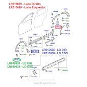 Tampa do Alargador/Fender do Paralama Traseiro - Lado Direito - Land Rover Discovery 3 e 4 - LR010625 - Marca Britpart