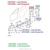 Fender/Alargador do Paralamas Traseiro - Porta - Lado Esquerdo - Land Rover Discovery 3 e 4 - LR010628 - Marca Bearmach