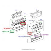 Junta da Tampa de Valvulas Motor 5.0 - Lado Direito - Land Rover Discovery 4 5.0 V8 Gas 2010-2014 / Range Rover Sport 5.0 V8 Gas 2010-2014 - LR010882 - Marca Britpart