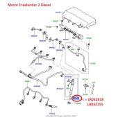 Arruela dos Bicos Injetores de Combustivel - Land Rover Freelander 2 2.2 Diesel 2011-2014 / Evoque 2.2 Diesel 2012 - LR032818 - Marca Elring
