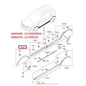 Fender do Paralama Dianteiro - Lado Esquerdo - Land Rover Evoque 2012 > - LR044280 - Marca Bearmach