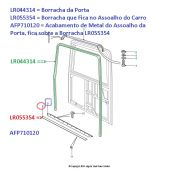 Acabamento do Assoalho (Cor: Preta)  - Land Rover Defender - ALR4769B AFP710120 - Marca Bearmach