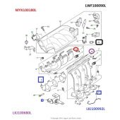 O Ring do Coletor de Admissao - Land Rover Freelander 1 2001-2006 - MYX100180L - Marca Allmakes PR2