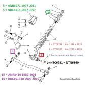 Kit 4 Buchas do Braço Tensor Dianteiro Em Poliuretano - Land Rover Defender 1987-1997/ Discovery 1 1989-1999 - BR2170P NRC4514 - Marca Bearmach