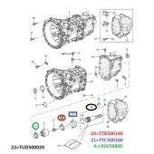 Retentor do Eixo de Saida do Cambio - Land Rover Defender Puma 2007-2011 - TZB500140 - Marca Land Rover