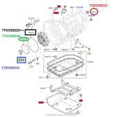 Retentor Traseiro da Transmissao - Land Rover Discovery 3 e 4 2005-2014 / Range Rover 2002-2012 / Range Rover Sport 2005-2009 - TZB500010 - Marca Corteco
