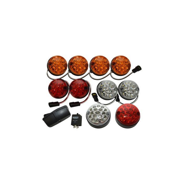 Kit de Lanternas de Led (11 Lanternas + 1 Rele) - Land Rover Defender  - DA1292 -  Marca Wipac