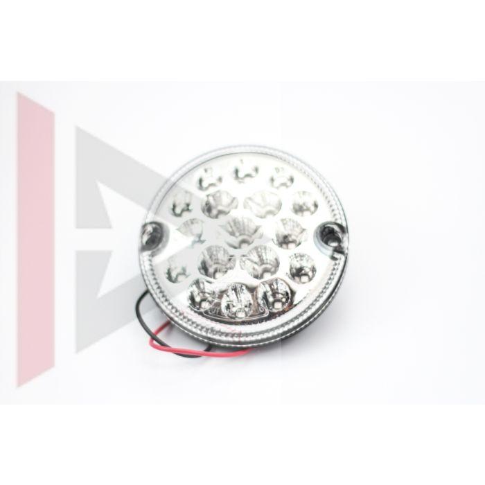 Lanterna de Neblina em Led (Transparente/Redonda) - Land Rover Defender - LR048201LED - Marca Wipac